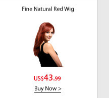 Fine Natural Red Wig