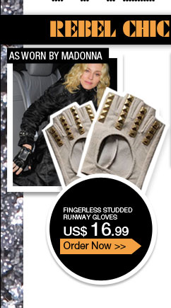 Fingerless Studded Runway Gloves
