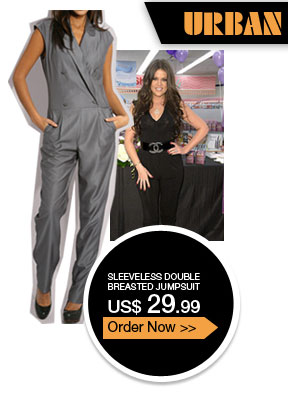 Sleeveless Double Breasted Jumpsuit