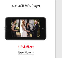 "4.3"" 4GB MP5 Player"