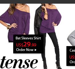 Bat Sleeves Shirt