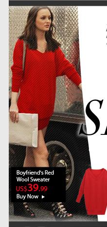 Boyfriend's Red Wool Sweater
