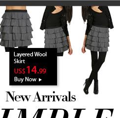 Layered Wool Skirt