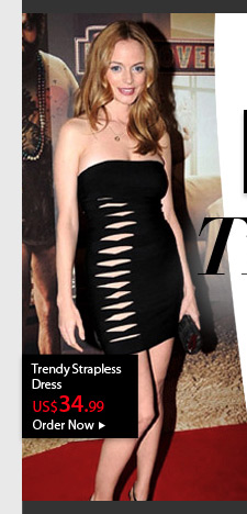 Trendy Strapless Dress
