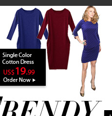 Single Color Cotton Dress