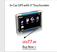 "In-Car GPS with 5"" Touchscreen"