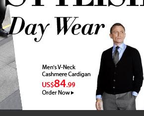 Men's V-Neck Cashmere Cardigan