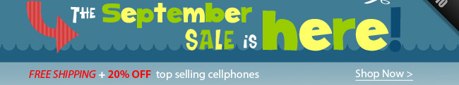 Free SHIPPING + 20% OFF top selling cellphones