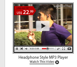 Headphone Style MP3 Player