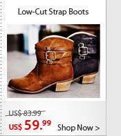 Low-Cut Strap Boots