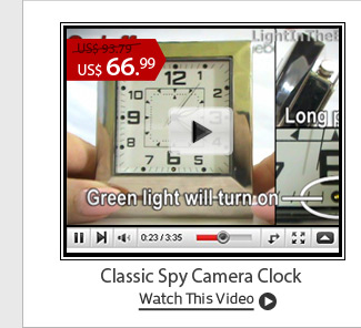 Classic Spy Camera Clock