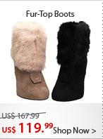 Fur-Top Boots