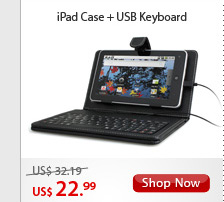 iPad Case + USB Keyboard