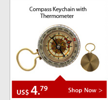 Compass Keychain with Thermometer