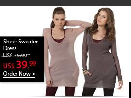 Sheer Sweater Dress