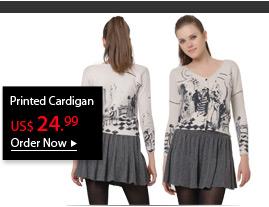 Printed Cardigan