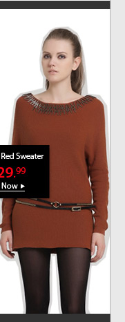 Rustic Red Sweater