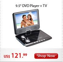 "9.5"" DVD Player + TV"