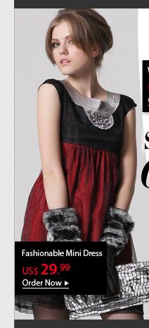 Fashionable Mini Dress