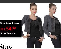 Wool Mini Blazer