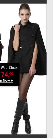 Sexy Wool Cloak