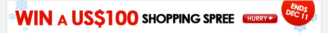 Win a US$ 100 Shopping Spree
