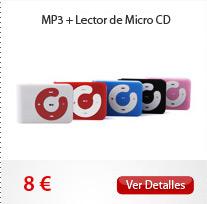 MP3 + Lector de Micro CD