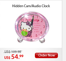 Hidden Cam/Audio Clock