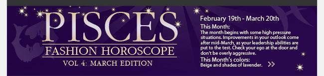 PISCES Fashion Horoscope