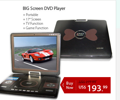 BIG Screen DVD Player