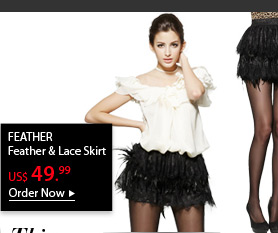 FEATHER Feather & Lace Skirt