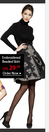 Embroidered Beaded Skirt