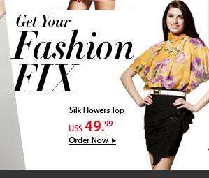 Silk Flowers Top