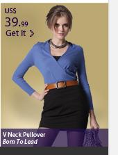 V Neckline Pullover
