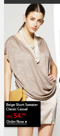 Beige Short Sweater