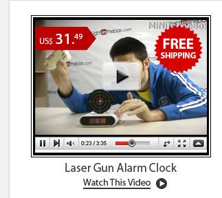 Laser Gun Alarm Clock