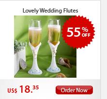 Lovely Wedding Flutes