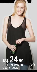 Sheer Summer Black Tank