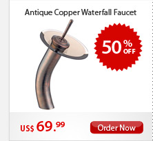 Antique Copper Waterfall Faucet