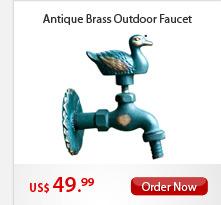 Antique Brass Outdoor Faucet