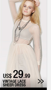 Vintage Lace Sheer Dress