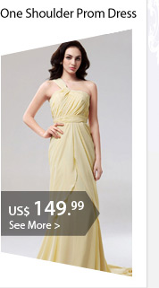 One Shoulder Prom Dress