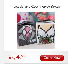 Tuxedo and Gown Favor box
