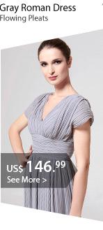 Gray Roman Dress