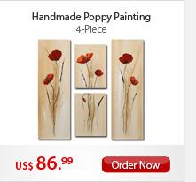 Handmade Poppy Painting