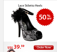 Lace Stiletto Heels
