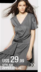 Stylish Zipper Dress