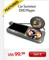 Car Sunvisor DVD Player