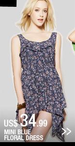 Mini Blue Floral Dress