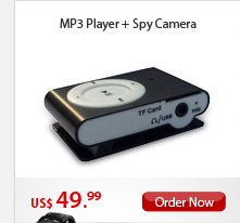 MP3 Player + Spy Camera